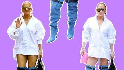 A JLo no se le cayeron los pantalones (aunque parezca): la culpa es de sus botas