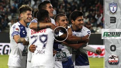 Pachuca golea, suma tres puntos y sale del sótano del Apertura 2018