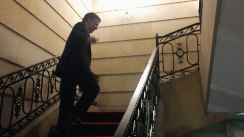 Juan Manuel Santos en la Casa de Nariño tras la jornada del plebiscito.