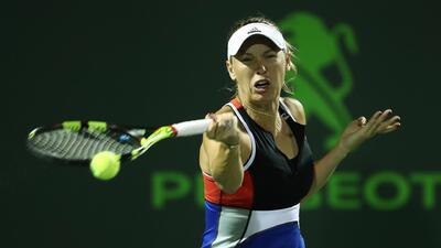 Caroline Wozniacki denunció amenazas del público en el Miami Open