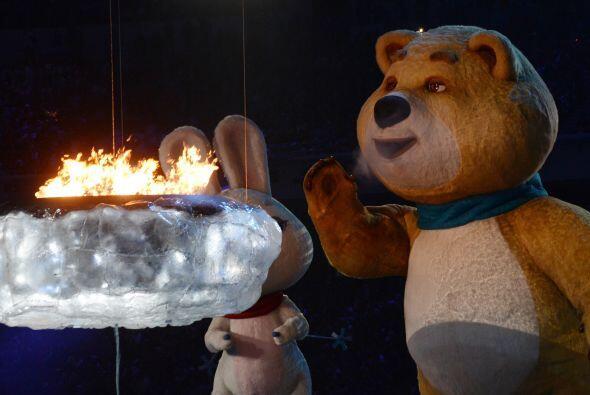 Tras extinguirse la llama, de los ojos del oso comenzaron a brotar lágri...