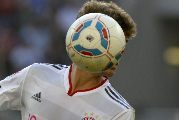 Para caras raras la de Thomas Muller, que de tanto meter goles se le pus...