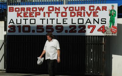 """Los """"title loans"""", o préstamos por el título del auto, son..."""