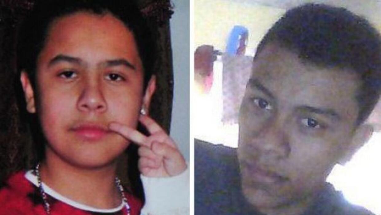 Eduardo Vanegas-Fuentes, de 16 años, y Edgar Calderón-Castro, de 19 años...