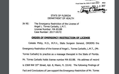 Torres Carballo tiene ahora una sanción que le prohíbe ate...