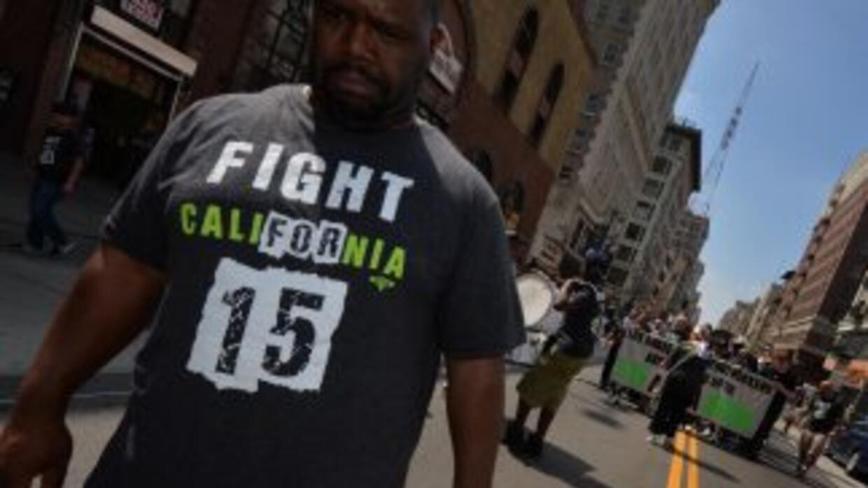 """""""Fight for 15"""" es la organización que agrupa la demanda de que el salari..."""