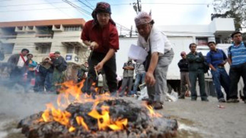Indígenas guatemaltecos.