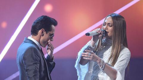 Jennifer Lopez canta con su exmarido Marc Anthony