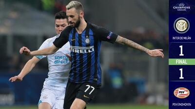 Chucky se despide de la Champions con gol, pero el PSV no puede con el Inter