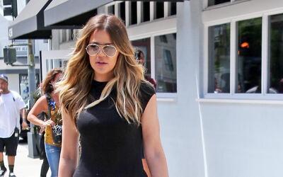El vestido negro de Kardashian