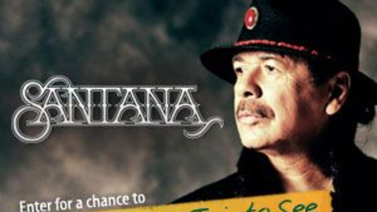 Enter to win a flyaway to New York to see Carlos Santana live!