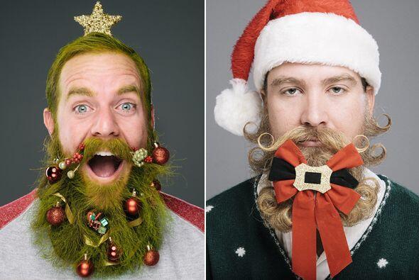 ¿Te imaginas llevar la decoración de tu árbol de navidad a tu barba? Pue...