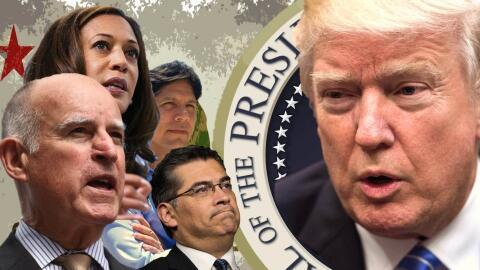 Los líderes de California verbalizan sus diferencias con Donald Trump. D...
