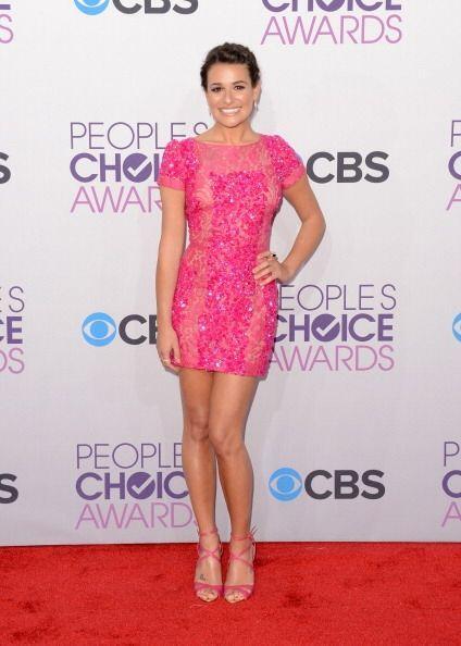 ¡Lea Michele olvidó que iba a la entrega de unos premios y se vistió par...
