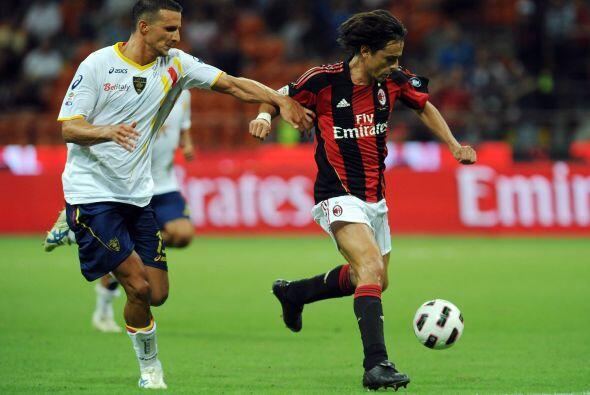 El Milan se presentó recibiendo al Lecce con el objetivo de ser un claro...