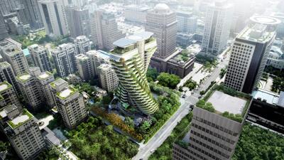 En fotos: El edificio de Taiwán que se tragará la contaminación