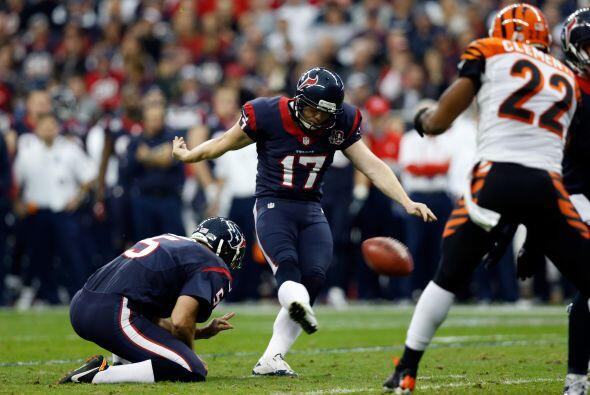 10. Shane Graham K (Houston) tuvo la precisión y estuvo perfecto en los...