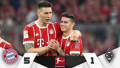 Bayern Múnich estrena su corona de la Bundesliga con goleada ante el Mönchengladbach