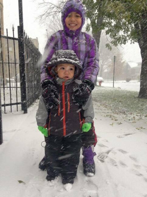 Usuarios comparten fotos de la primera tormenta invernal en Chicago