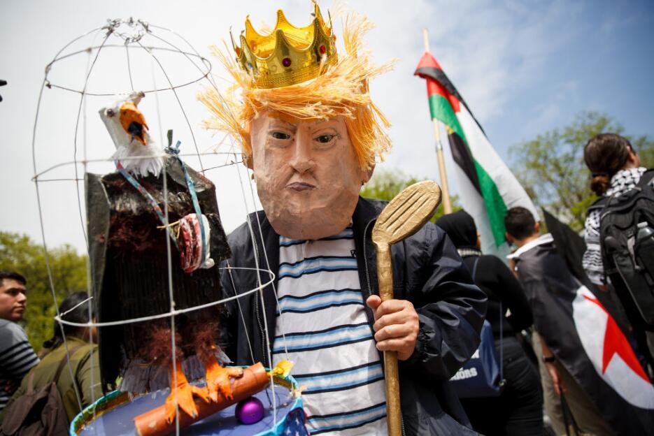 Las burlas hacia el presidente Donald Trump a través de representaciones...