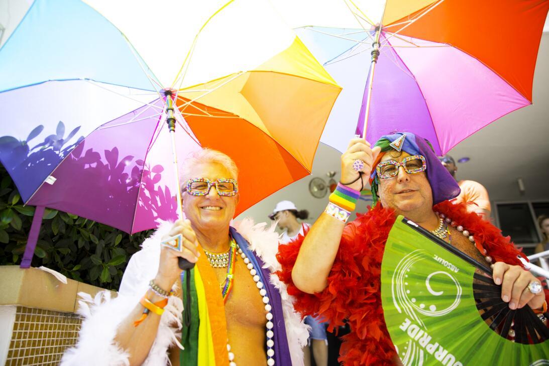 Este año, la celebración del orgullo Gay en Miami Beach incluyó un homen...