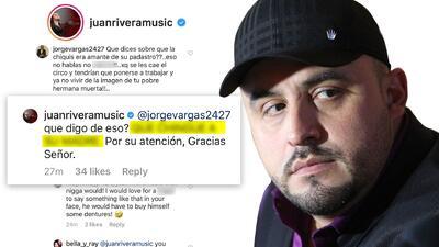 Juan Rivera responde bien grosero a pregunta sobre la relación de Chiquis y Esteban Loaiza