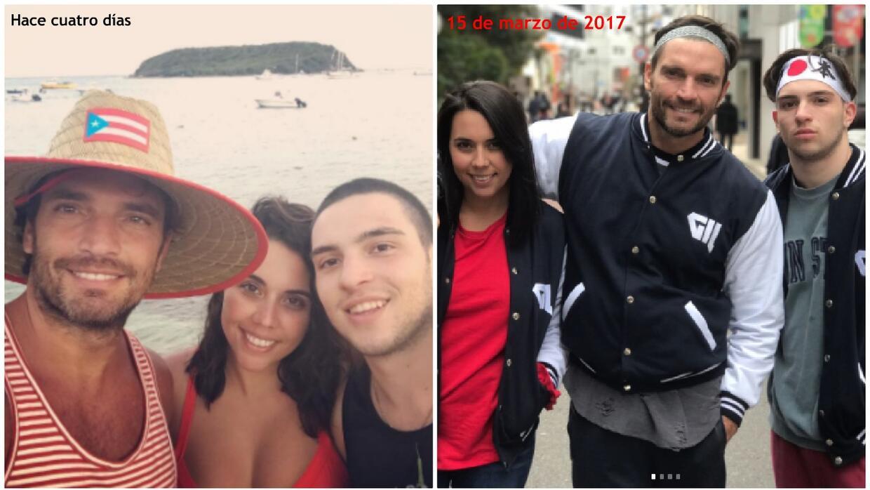 Julián Gil estuvo de vacaciones en los pasados días con sus dos hijos ma...