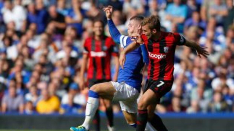 Everton y West Bromwich empataron sin goles.