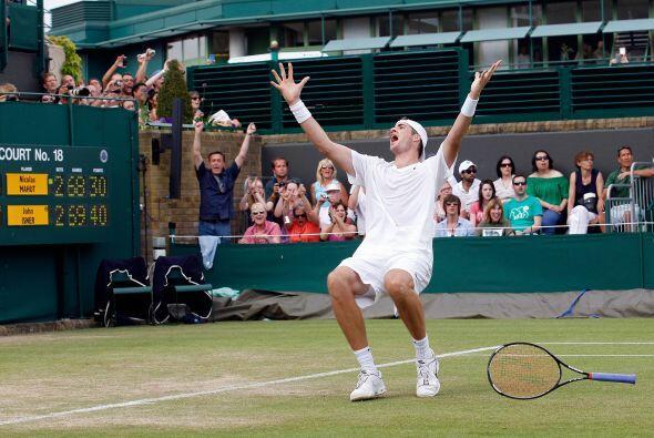 El estadounidense John Isner fue el ganador del partido más largo de la...