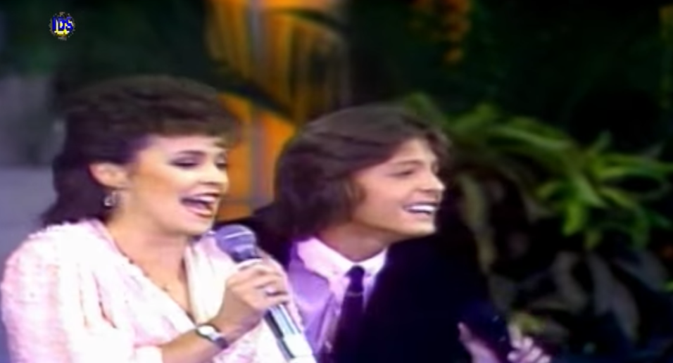 Luismi con Sheena Easton en 1984
