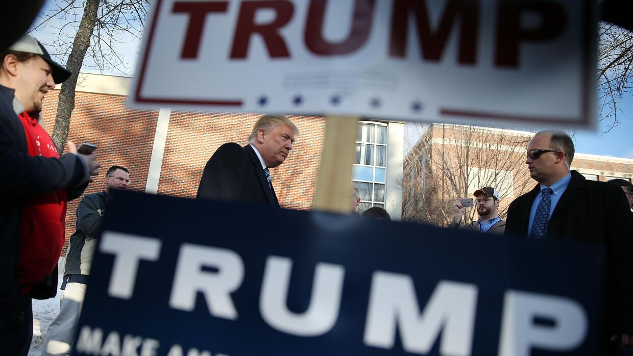 Trump anuncia por error al ganador de New Hampshire