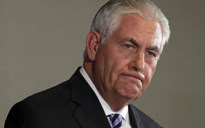 El secretario de Estado, Rex Tillerson, en una rueda de prensa en el hot...