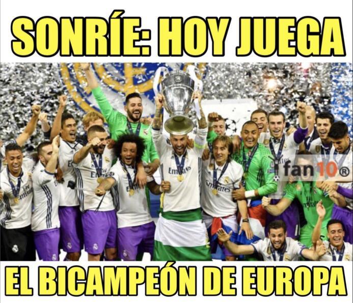 Real Madrid y CR7 golearon en la Champions y en los memes dpk69n7uqaa9tu...