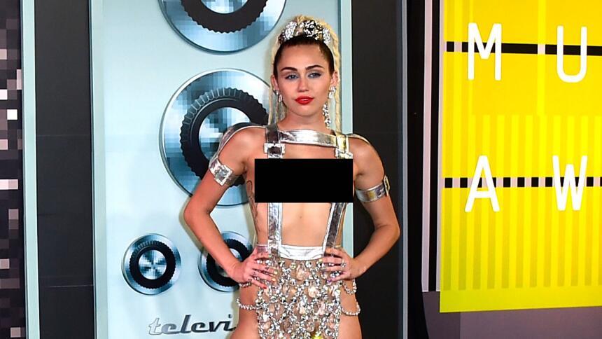 Miley Cyrus en los MTV VMA's.