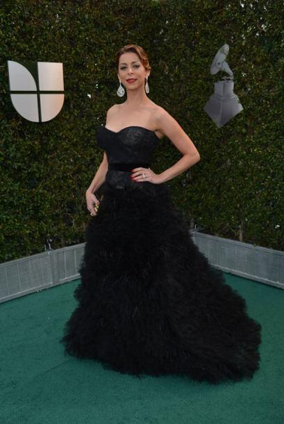 En 2012 Lourdes sorprendió con su vestido 'strapless'.