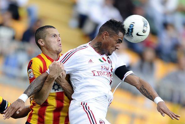 El ghanés del Milan se vistió de héroe en el choque con Lecce.