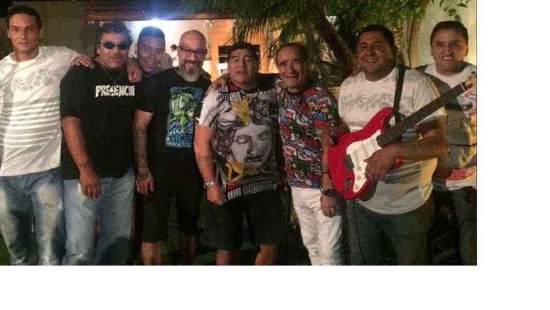Diego Maradona en pleno festejo.