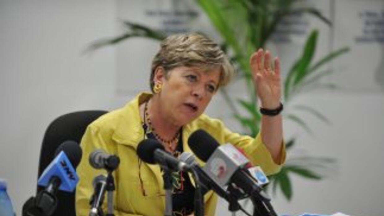 Alicia Bárcenas, secretaria ejecutiva de la Cepal.