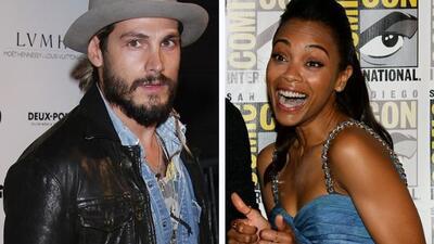 La actriz Zoe Saldaña se casó en secreto con el pintor italiano Marco Pe...