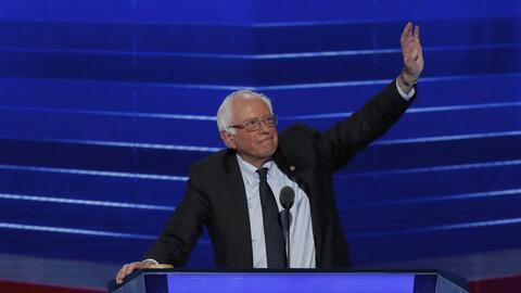 Sanders en la convención.