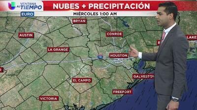 Cielos parcialmente nublados y posibilidades de lluvias moderadas para este miércoles en Houston