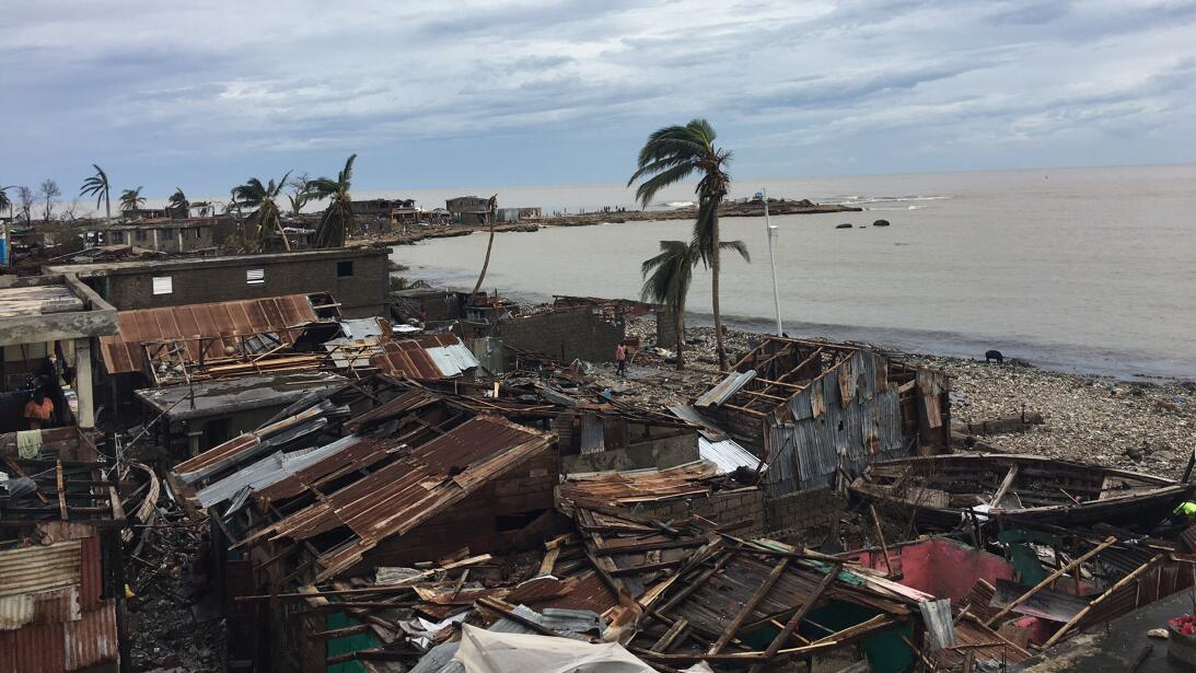 Almost all the homes in the town of Jeremie suffered damage from Hurrica...
