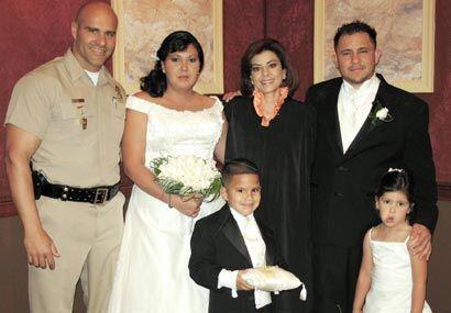 La foto con la jueza quedó como una parte importante de los recue...