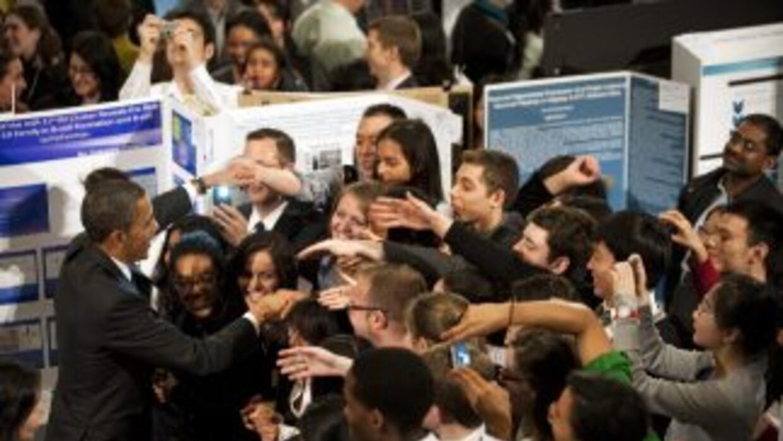 Barack Obama llegó de visita al barrio de Halem en Nueva York el martes