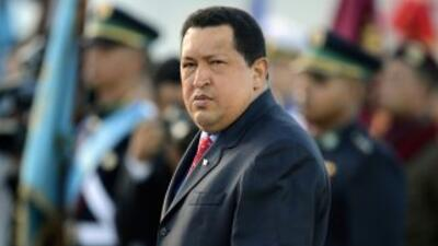 El presidente de Venezuela Hugo Chávez.