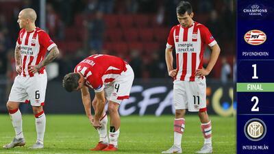 Inter oscureció el panorama de 'Chucky' Lozano y el PSV en Champions League