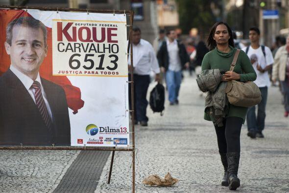 Es común ver la propaganda electoral por las calles brasile&ntild...