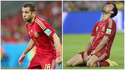 Jordi Alba y Sergio Busquets recordaron el enorme fracaso de España en Brasil 2014