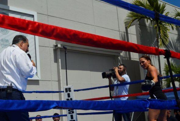 Jennifer concentrándose para enfrentar a Danilo.