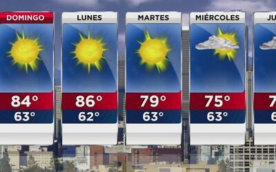 Las altas temperaturas no abandonan Los Ángeles